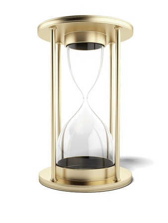 Empty gold hourglass  photo