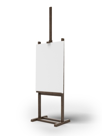 exhibition stand: Blank art board
