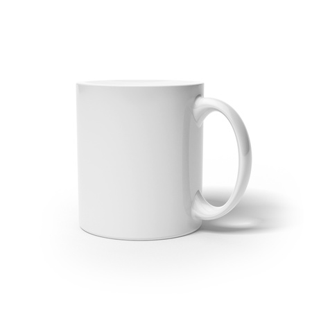 chinaware: White cup