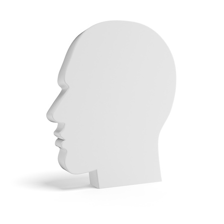 Blank Head isolated on a white background photo