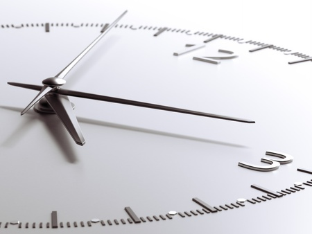 abstract alarm clock: Time concept  isolated on a white background