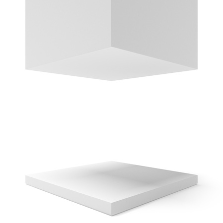 Empty showcase isolated on a white background Stock Photo - 16890123