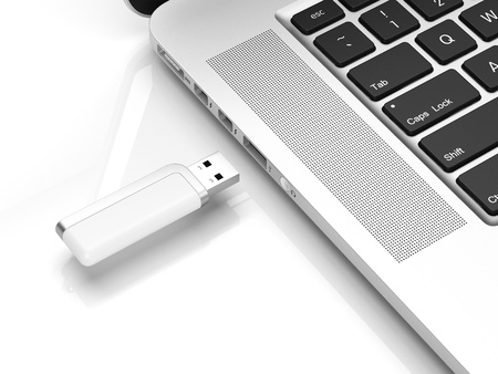 Usb flash isolated on a white background photo