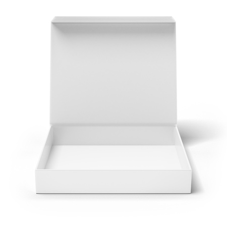 Open box isolated on a white background photo