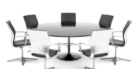 Round conference room isolated on a white background photo