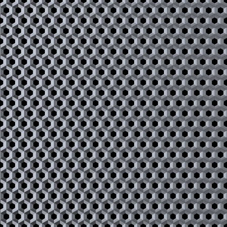 meshy: Polished metal grid with round honeycombs  Abstract image Stock Photo