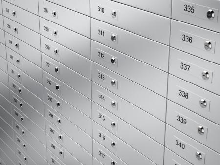 3d render of metal Safety deposit boxes Stock Photo - 17034550