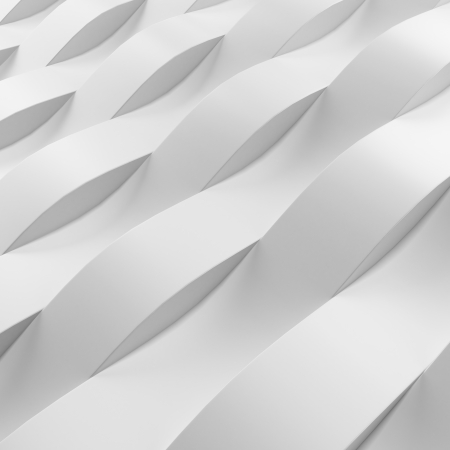 Wave pattern wall isolated on a white background photo