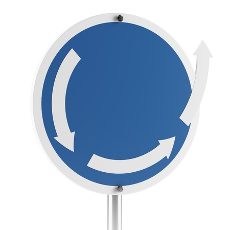 another roundabout sign isolated on a white background Stock Photo - 17082378