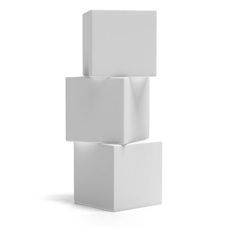 Three cubes isolated on a white background Stock Photo - 17082052