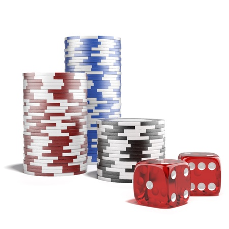Casino concept isolated on a white background photo