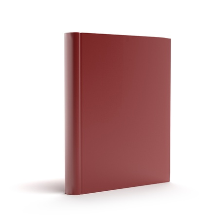 encyclopedias: Red book isolated on a white background Stock Photo