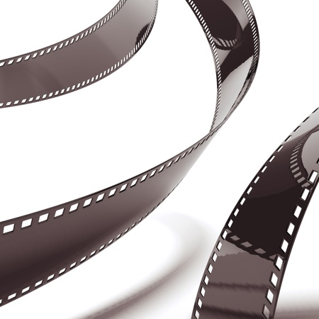 expose: Film strip background isolated on a white background