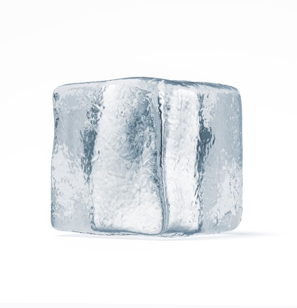 Ice cube isolated on a white background photo