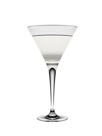 Martini glass isolated on a white background Stock Photo - 17113375