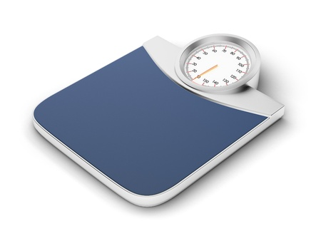 weight room: weight scale Stock Photo