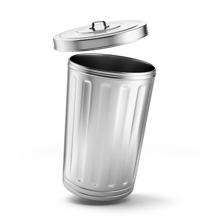 wastepaper basket: garbage  Stock Photo