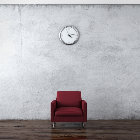 wall clock: sofa