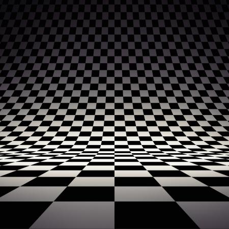 ajedrez: baldosas a cuadros Foto de archivo