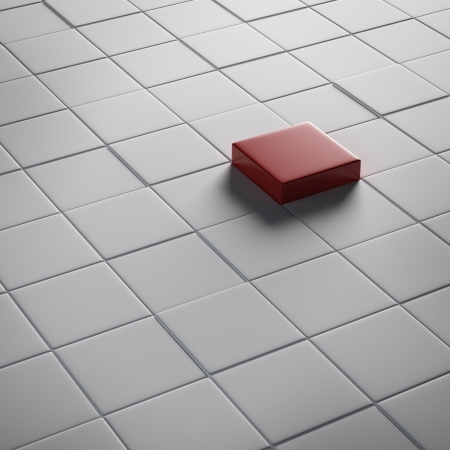 unique concept: button Stock Photo