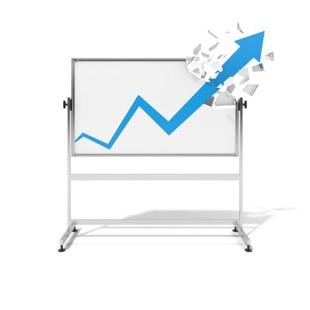 upward graph: graph Stock Photo