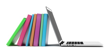 books and laptop Stock Photo - 17366763