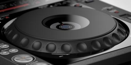 batteur �lectrique: Gros plan de la table de mixage DJ