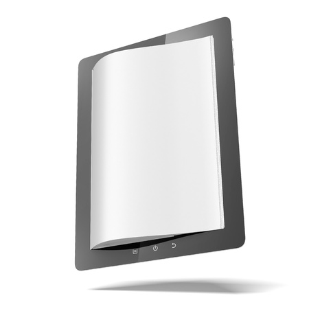 inovation: Tablet computer with pages Stock Photo