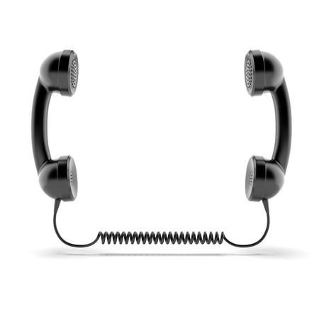 telephone line: Two telephone handsets