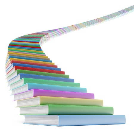Book stair Stock Photo - 17970754