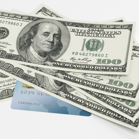 Dollars and credit card Stock Photo - 17970781