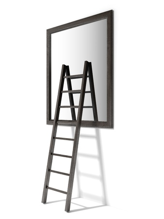 staircases: Mirror And Ladder Stock Photo