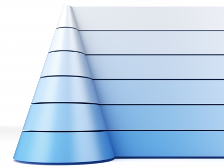 Blue pyramid chart photo