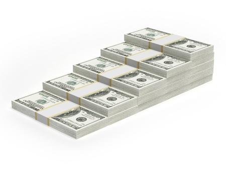 Concept dollar bar chart graph Stock Photo - 17970770