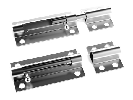 chrome latch Stock Photo - 17970741