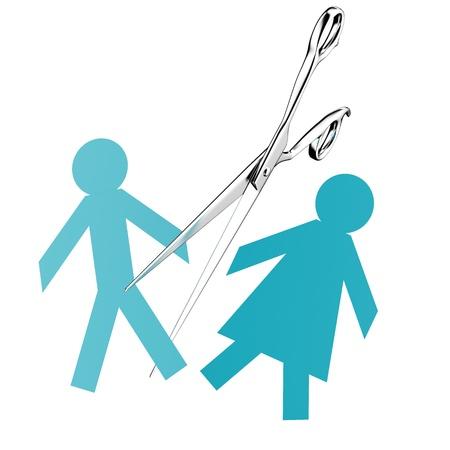 divorcio: separaci�n par Foto de archivo