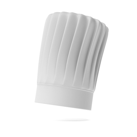 replaceable: White tall chef hat