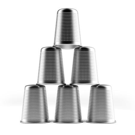 thimble: Pyramid of thimbles