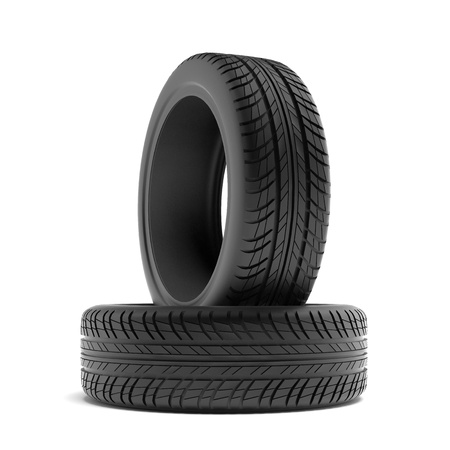 black tyres  Stock Photo - 19549213