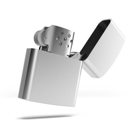 Silver metal zippo lighter Stock Photo - 19549196