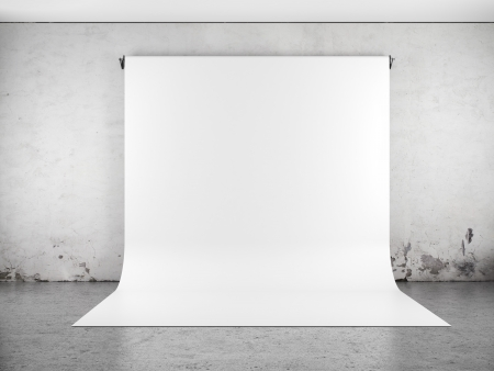 plafond: White backdrop in room Stock Photo