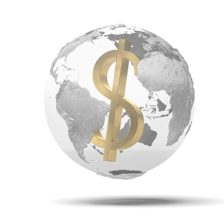 supremacy: supremacy of the dollar in the world Stock Photo