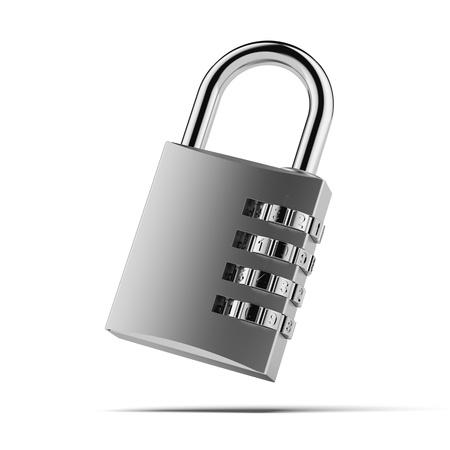 lockbox: Combination padlock Stock Photo