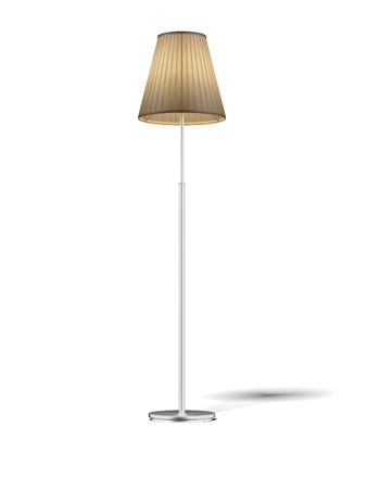 Floor Lamp isolated on white  photo
