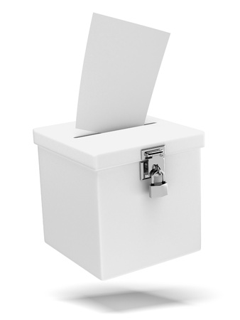 voting ballot: Ballot box