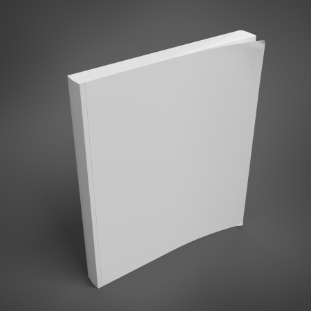 blank book: blank book cover Stock Photo