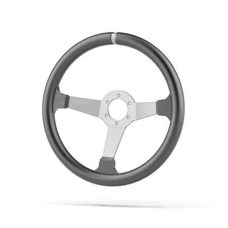 airbag: Black Steering Wheel Stock Photo