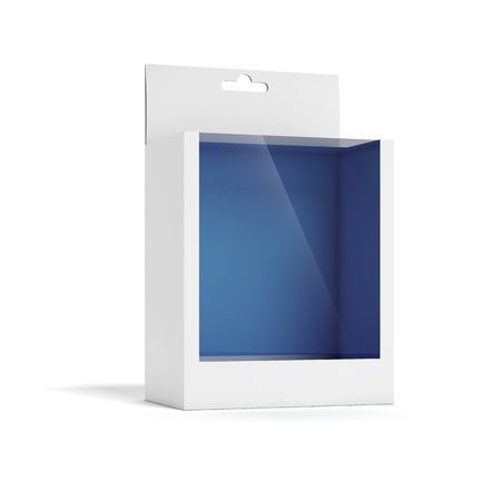 plastic box: Cardboard Box with a transparent plastic window