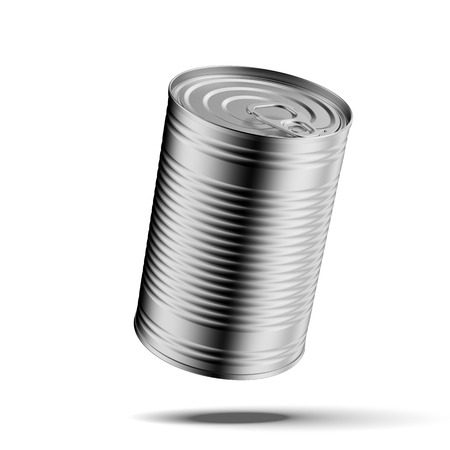 The closed tin can isolated on a white background Stock Photo - 22401757