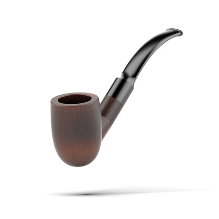 Tobacco pipe isolated on a white background photo